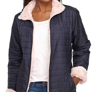 Me Jane Reversible Puffer Faux Fur Jacket